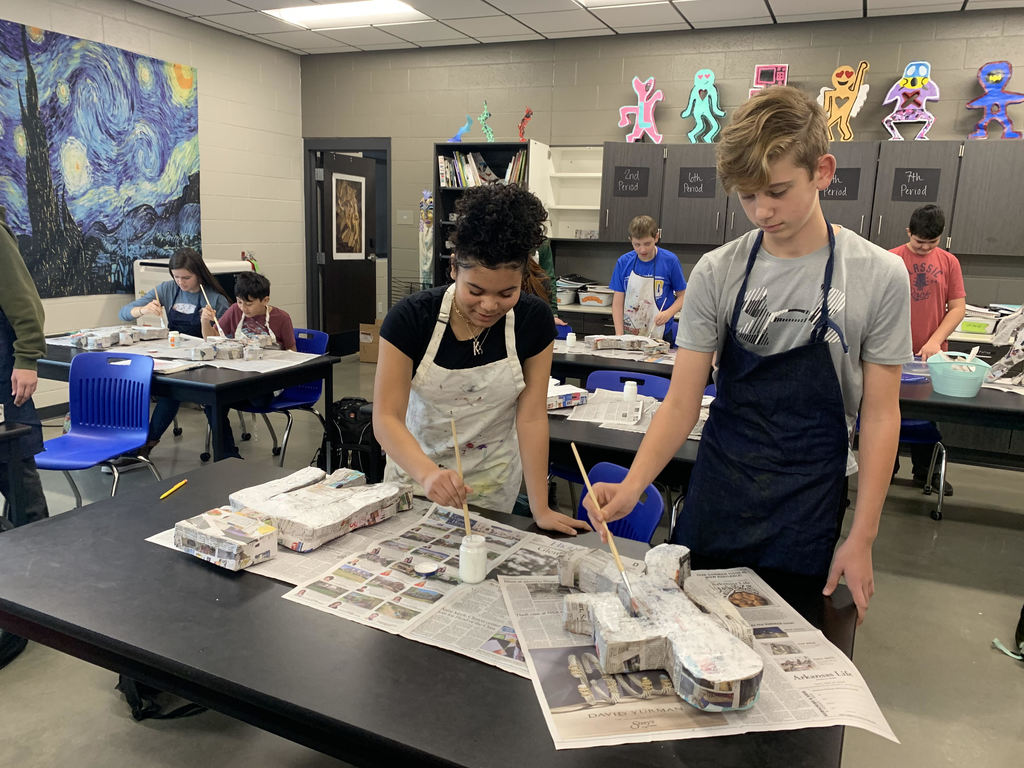 8th grade artists painting sculptures