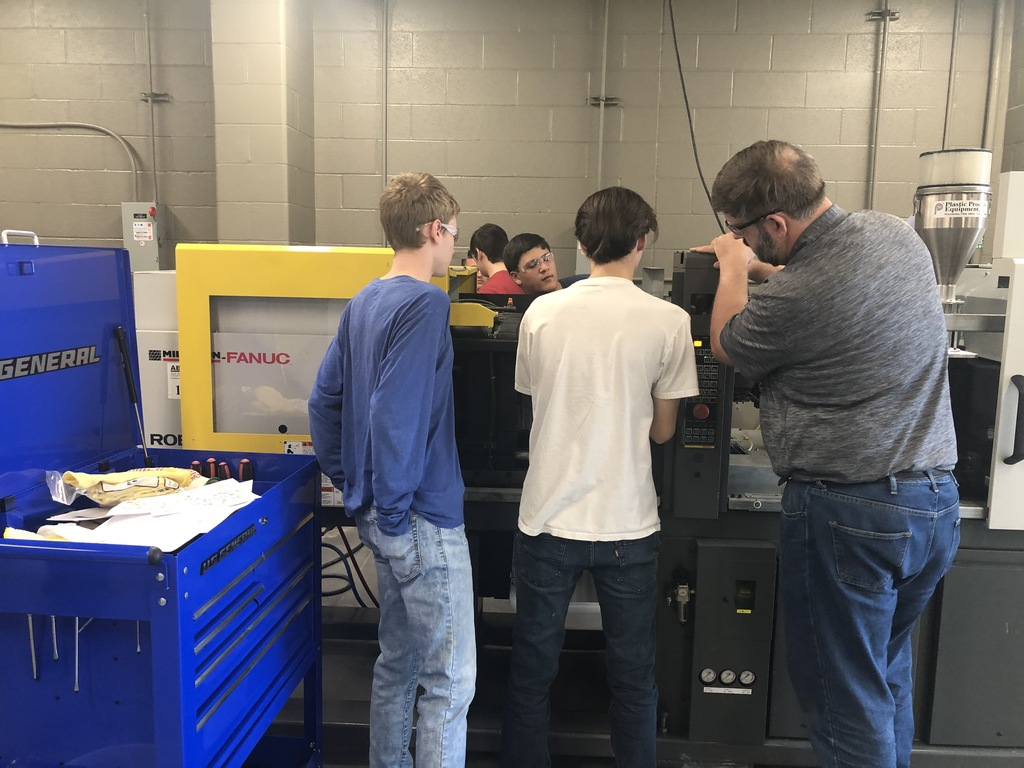 students using machine