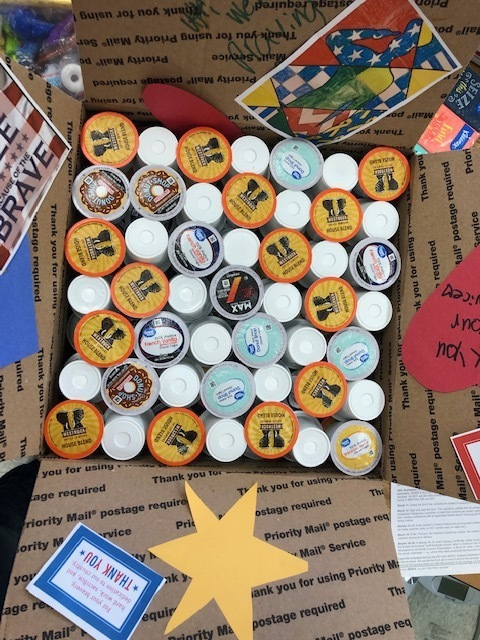 K-cups for the deployed soldiers