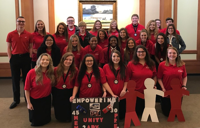 FCCLA members at district