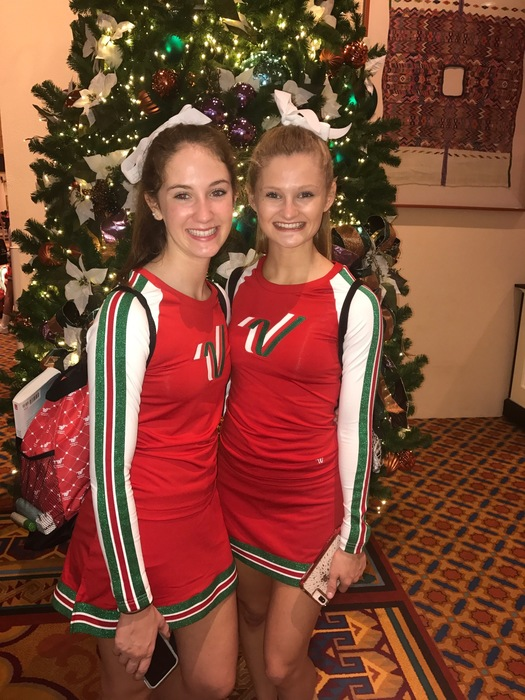 Hayley Capps and Jenna Whitmire at Disney World Spectacular Parade