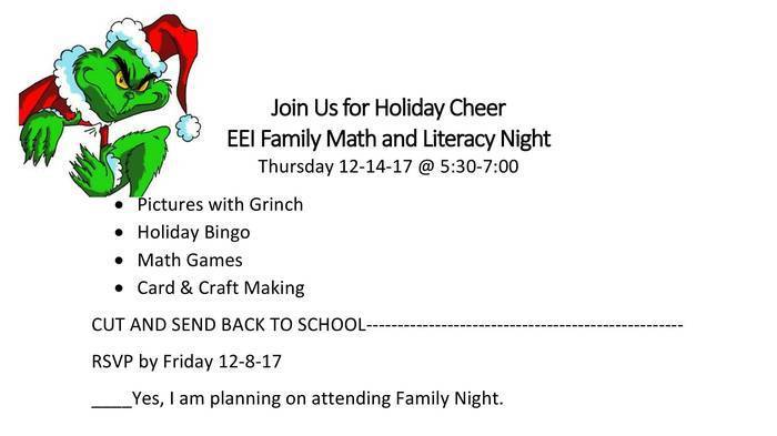 EEI Family Night Flyer 12-14-17 at 5:30 p.m.
