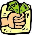 hand with money clip art
