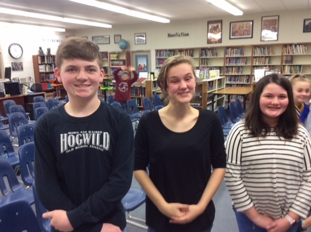 SJHS Spelling Bee Champion and 2nd Place Winners