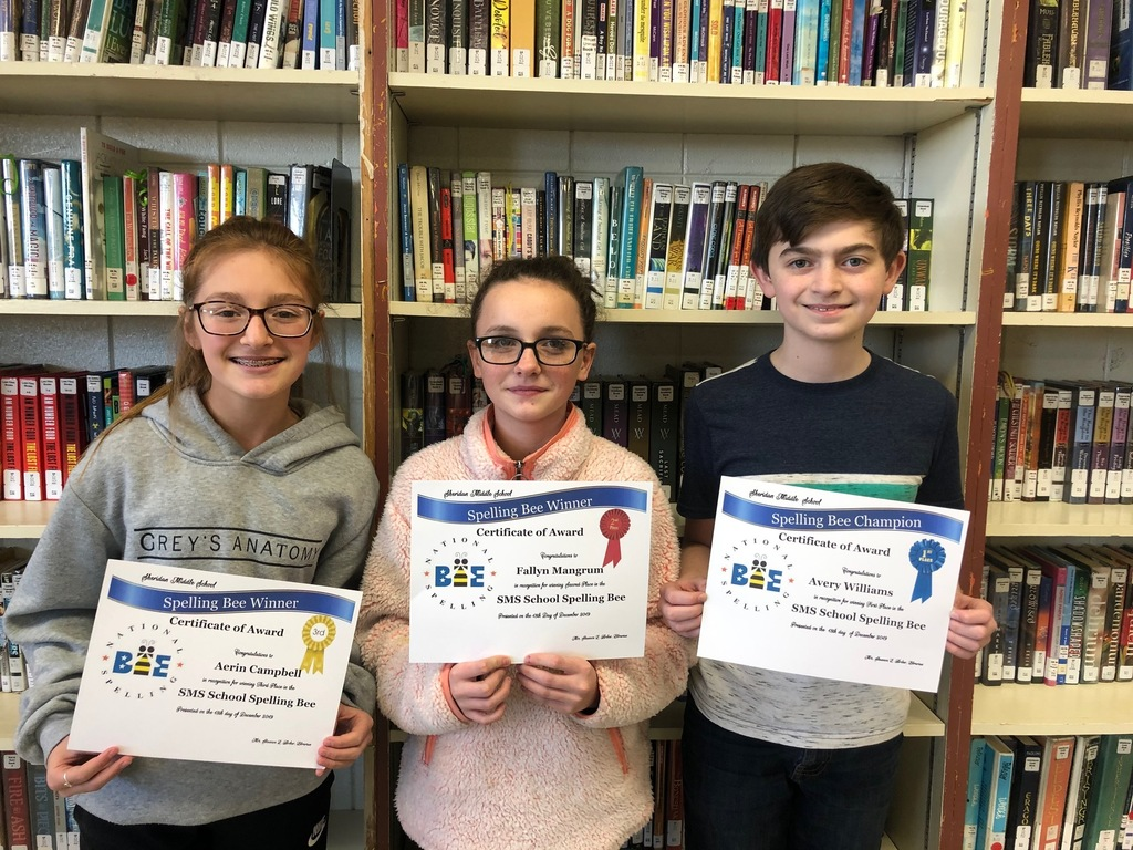 SMS Spelling Bee Winners