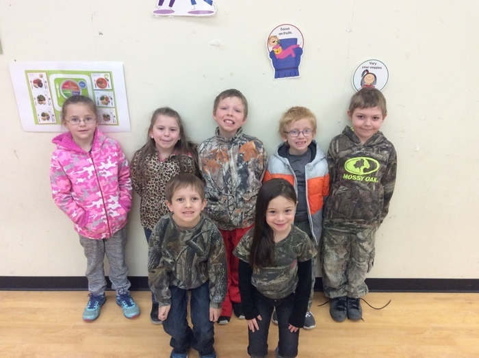 Students dressed in camo and animal print