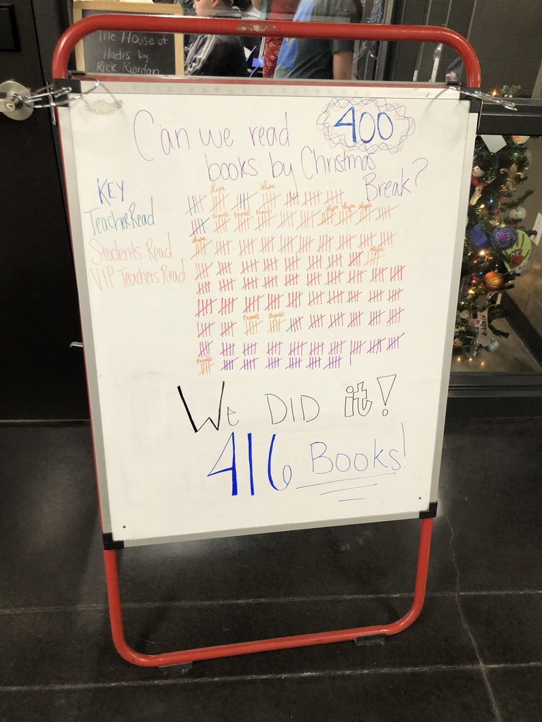 We did it! We met our 400 book reading goal!