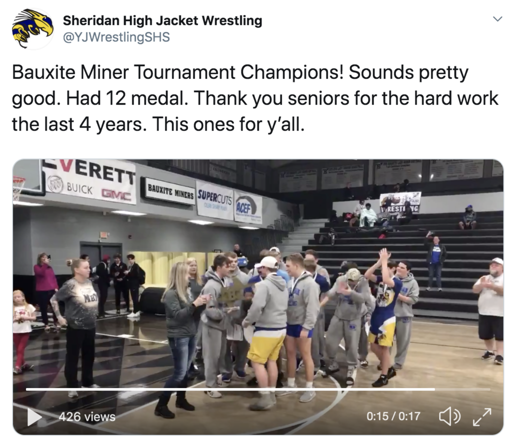 Picture of wrestlers celebrating