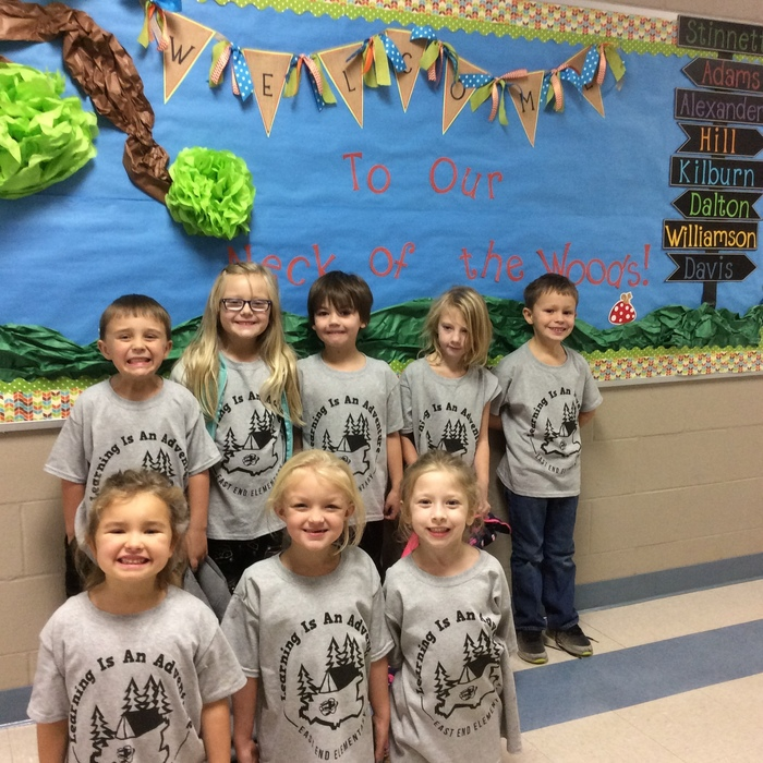 Learning is an Adventure! Thanks to EEE and PTA for our shirts!