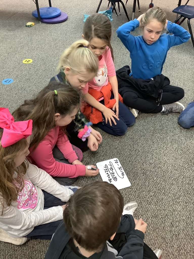 Working together to solve subtraction problems