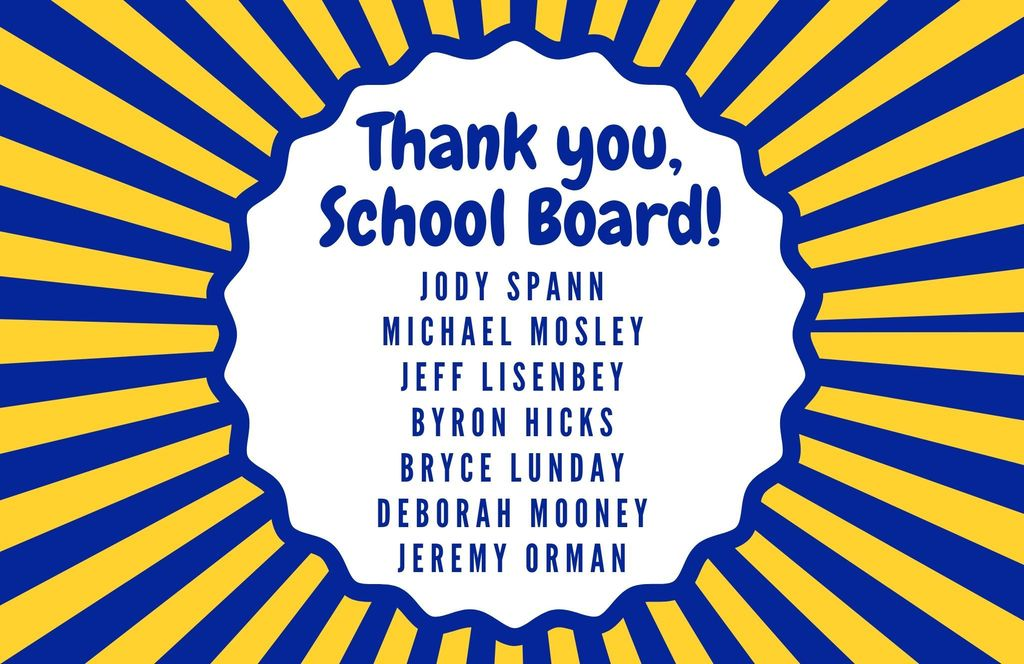 image that says Thank you School Board