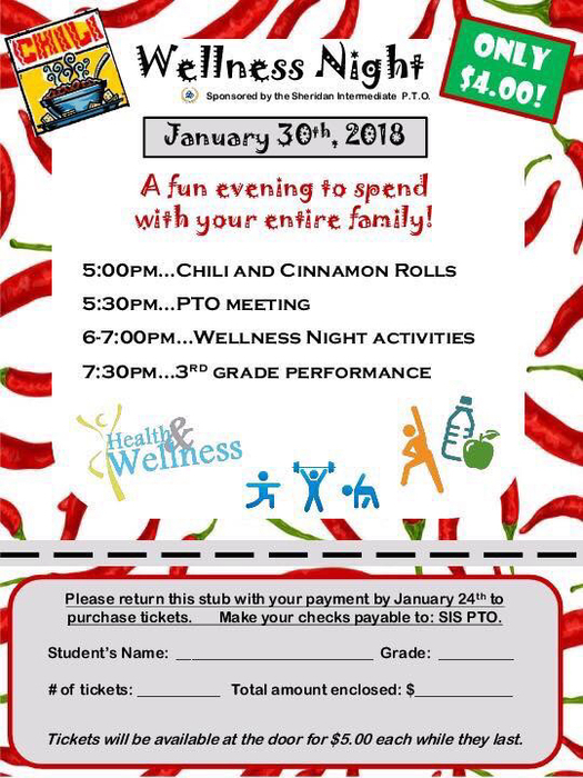 SIS Wellness Night Flyer - Jan 30 at 6 PM