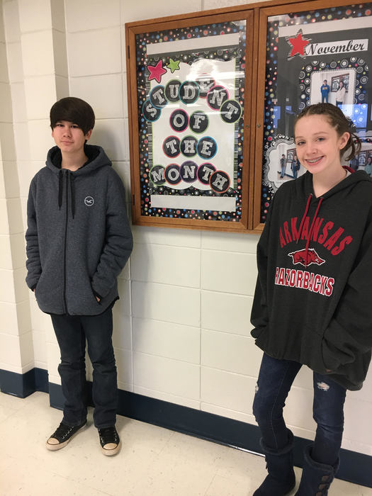 Sophomores Jon david Armistead and Brittany Yates are December Students of the Month
