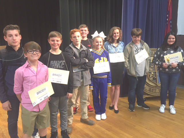 SJHS Spelling Bee Contestants