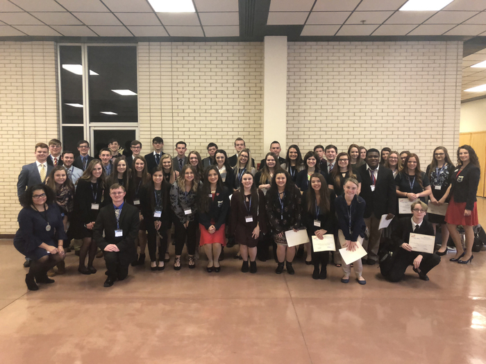 FBLA Students at regional competition