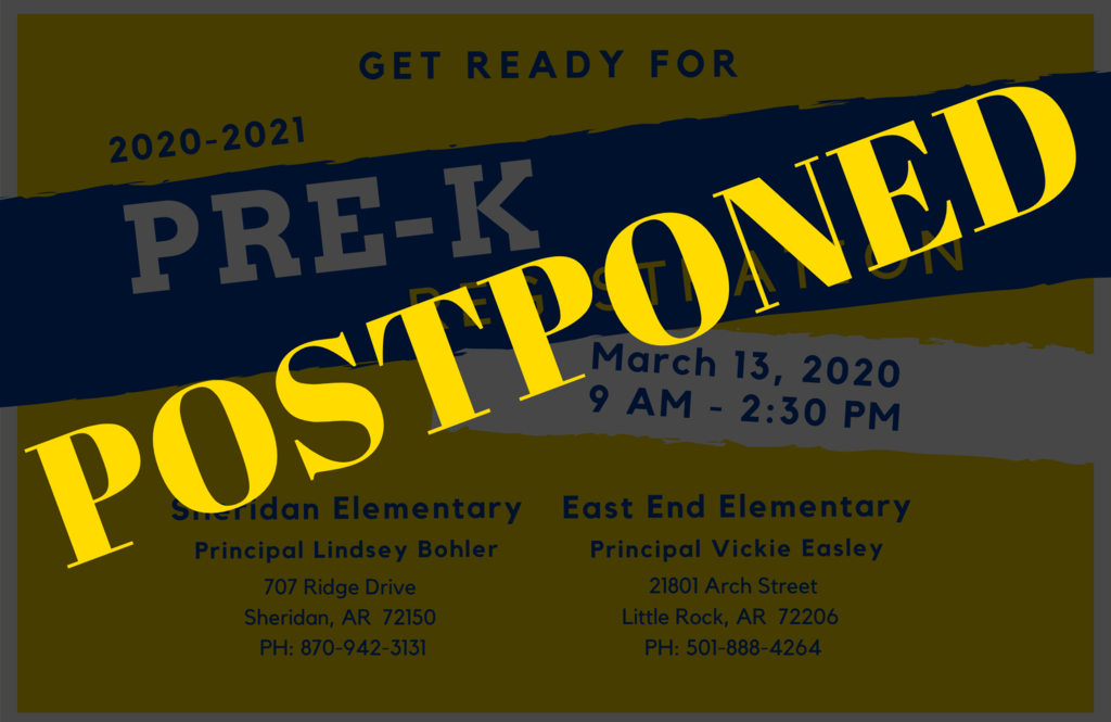 Image that says postponed
