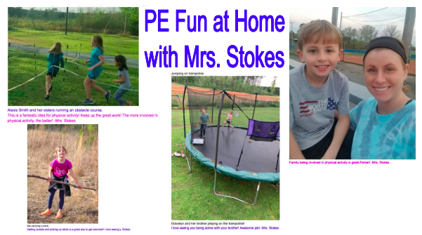 PE Fun at Home with Mrs. Stokes
