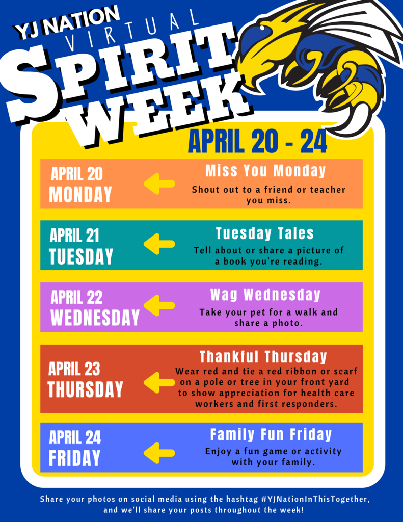 Image that says Virtual Spirit Week