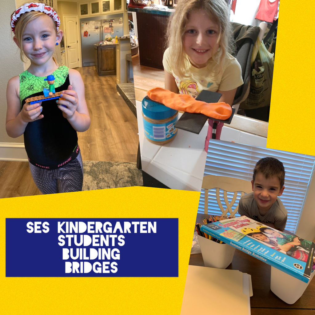 SES kindergarten students building bridges