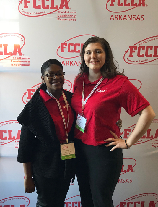 two SHS student FCCLA members
