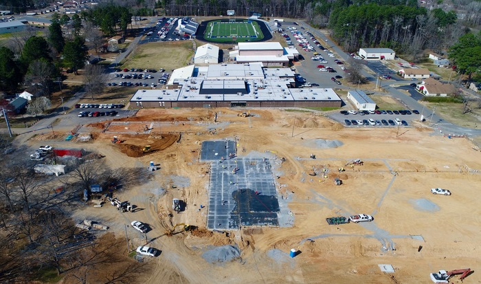 Picture of new construction at the high school