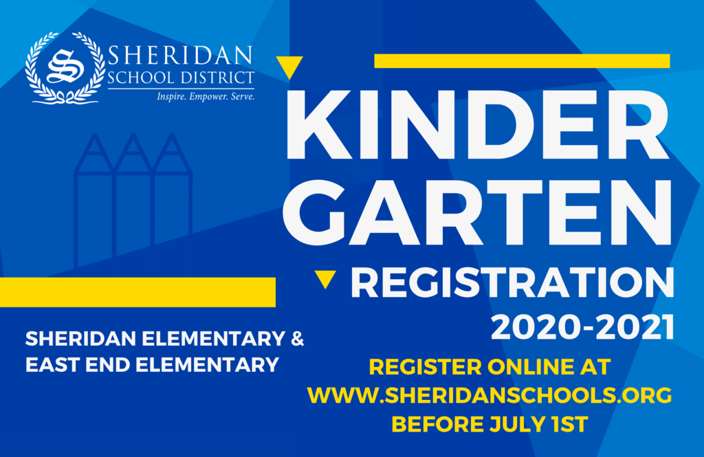 Image that says Kindergarten Registration