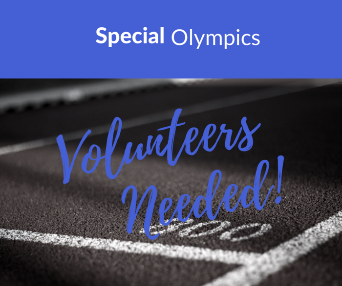 "Image that says ""Special Olympics Volunteers Needed"""