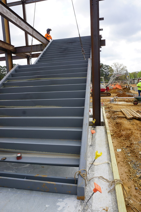 New stairs at construction site