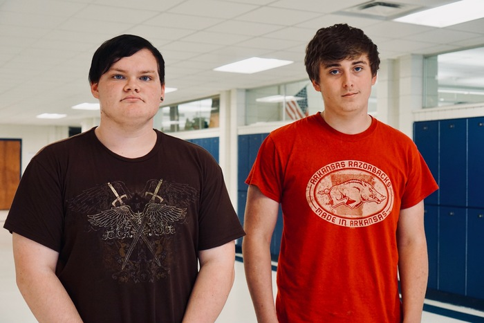 Picture of two students in high school
