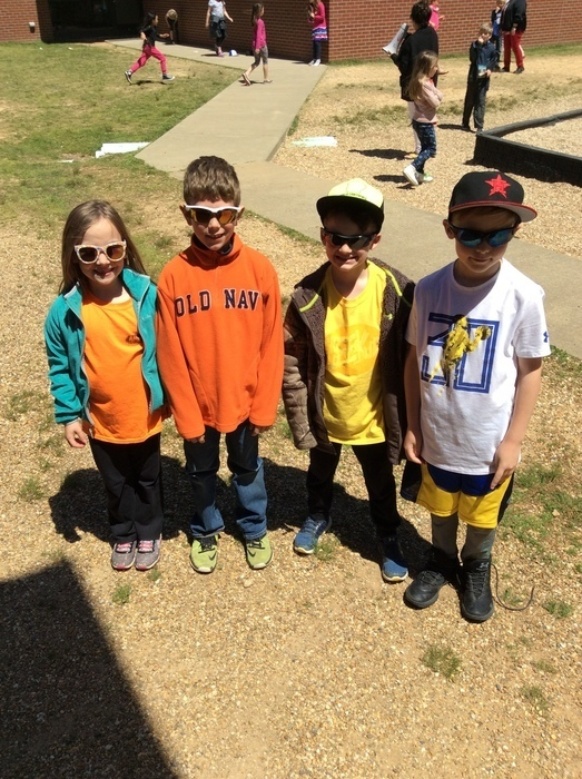 Picture of kids at recess in sunglasses