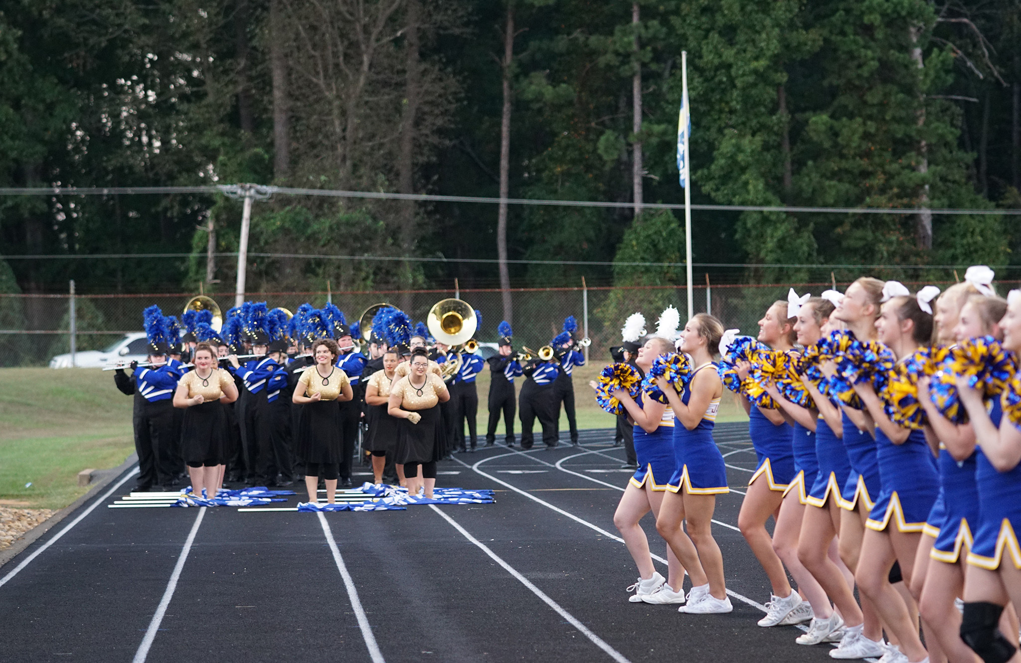 Band and Cheer together