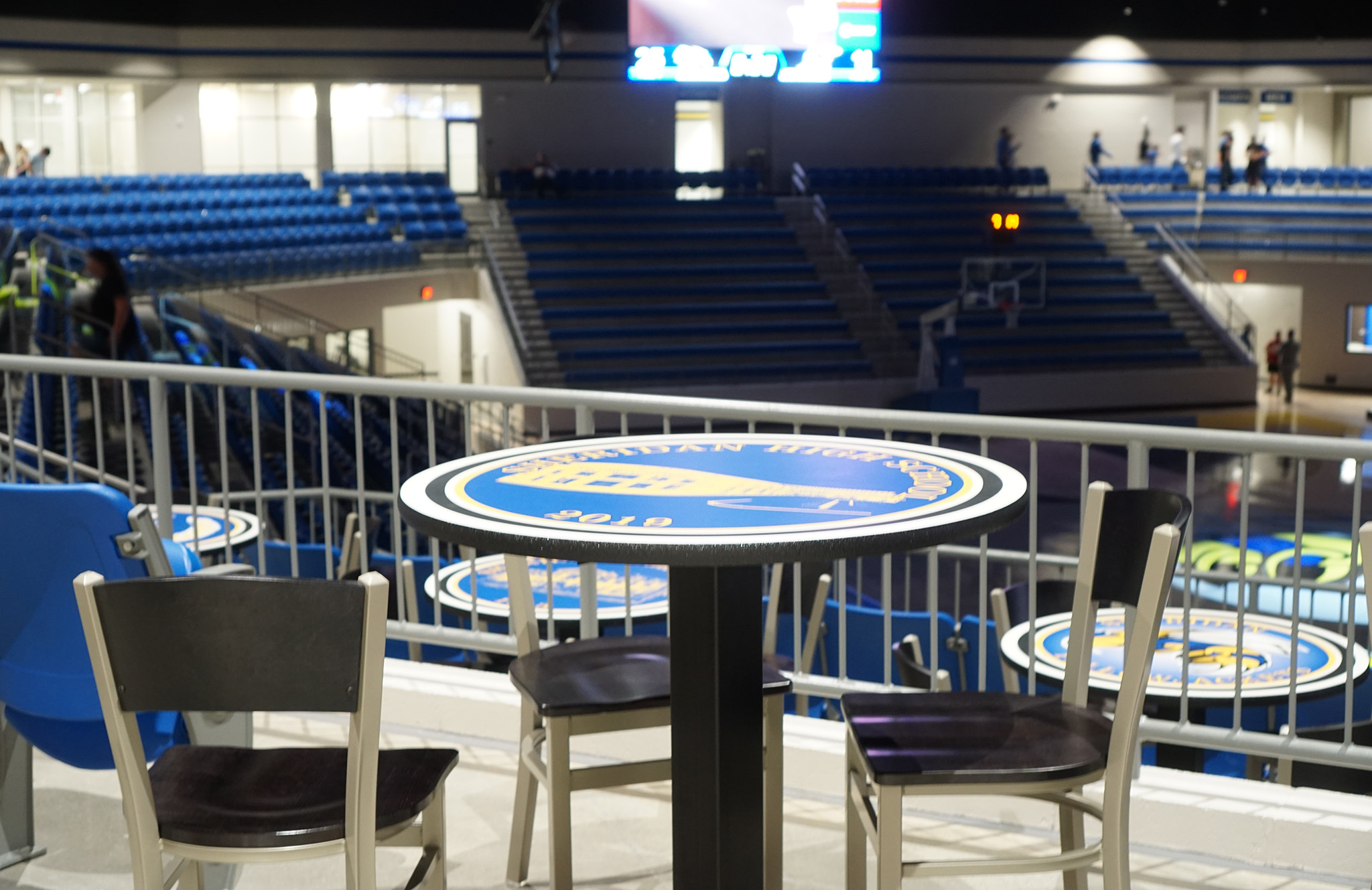 Table in arena