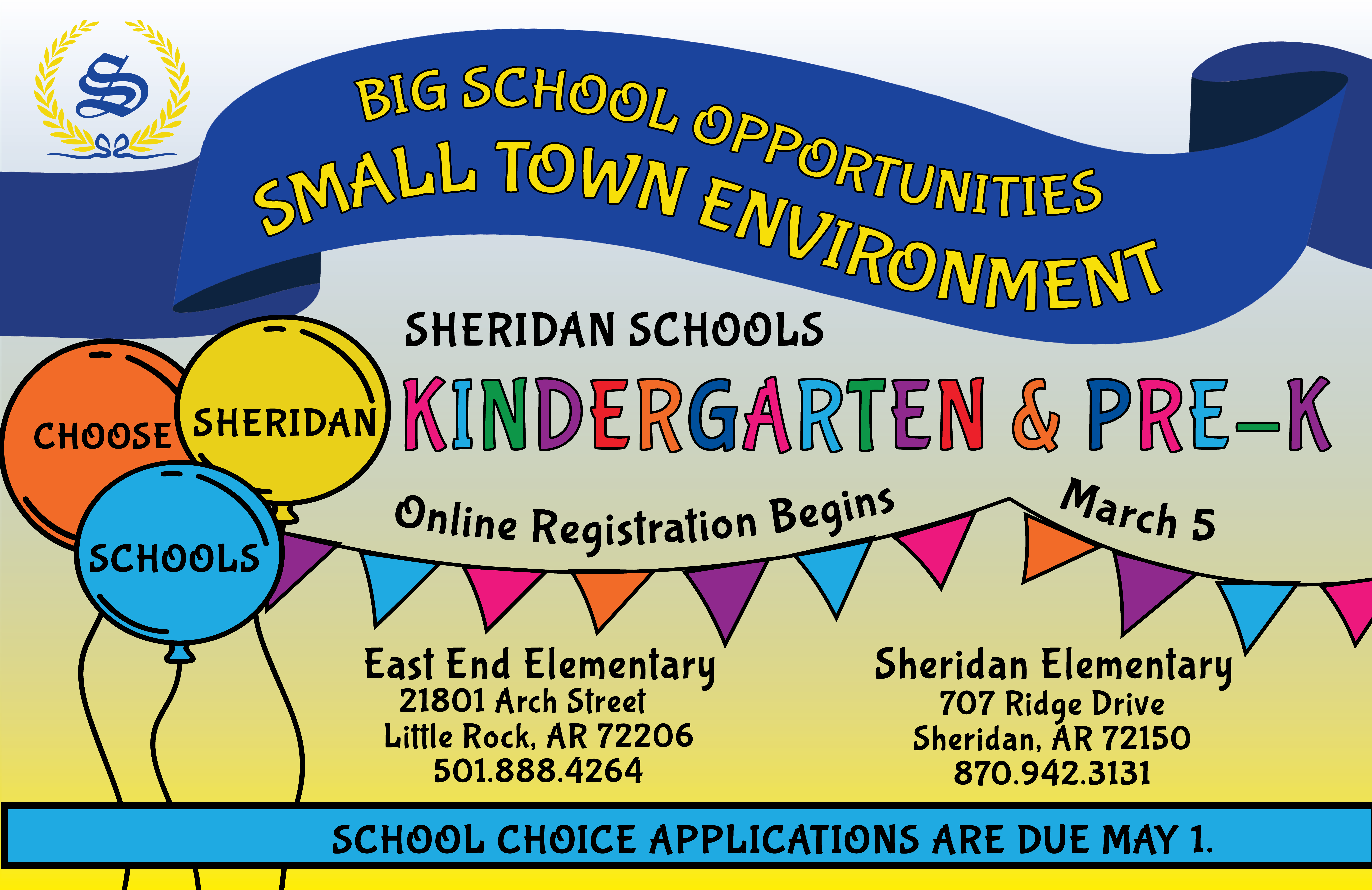 Image that says Pre-K and Kindergarten Registration