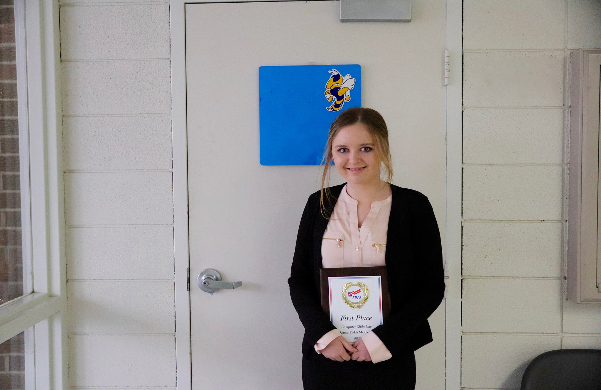 Aubriana Earns First Place in FBLA Competition