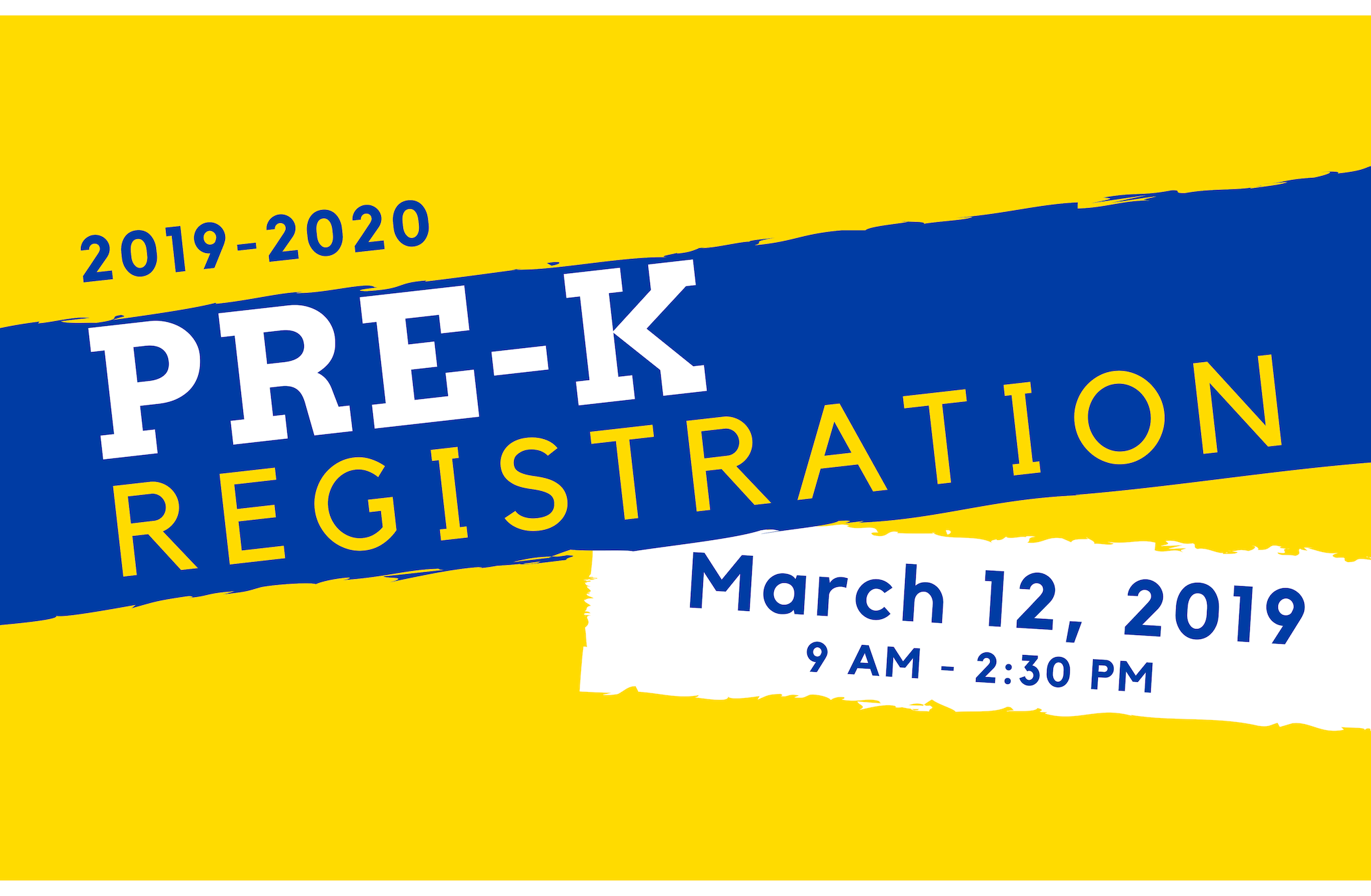 Image that says Pre-K registration will be March 12