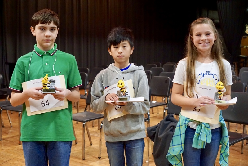 2020 Grant County Spelling Bee Results