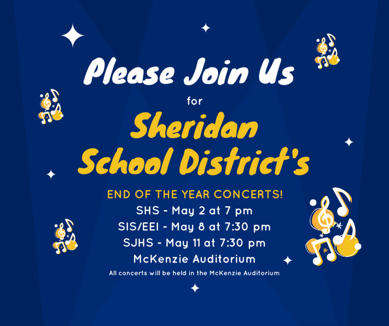 Please Join Us For Our End of the Year Concerts!