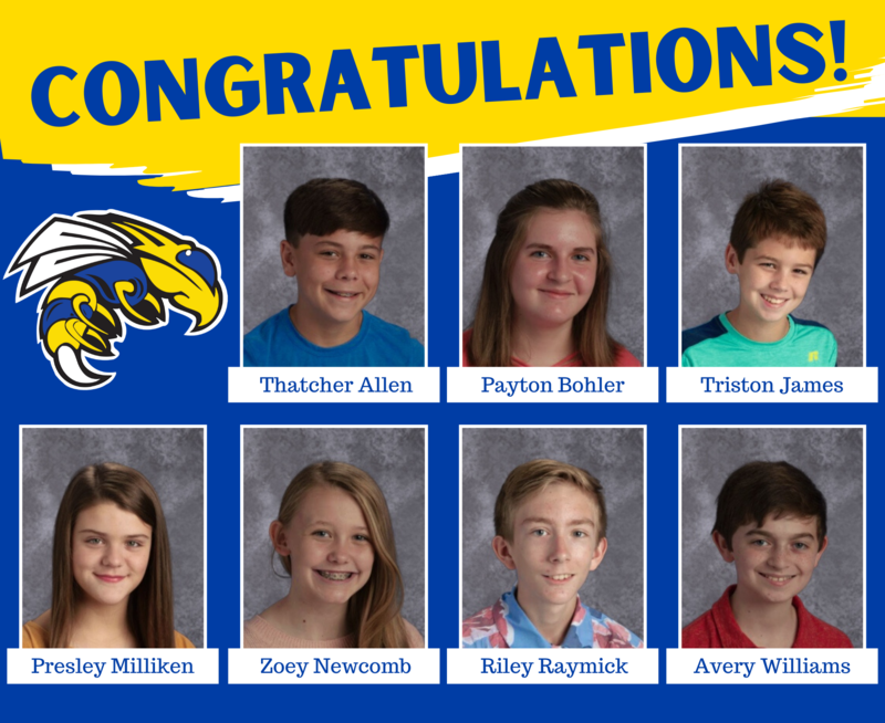 Seven Middle School Students Receive State Recognition for High ACT Scores
