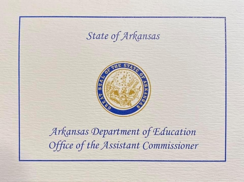 SSD Kindergarten Teacher Receives Letter of Recognition from the ADE Commissioner's Office