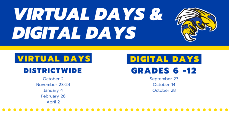 Announcement Regarding Virtual Days and Digital Days