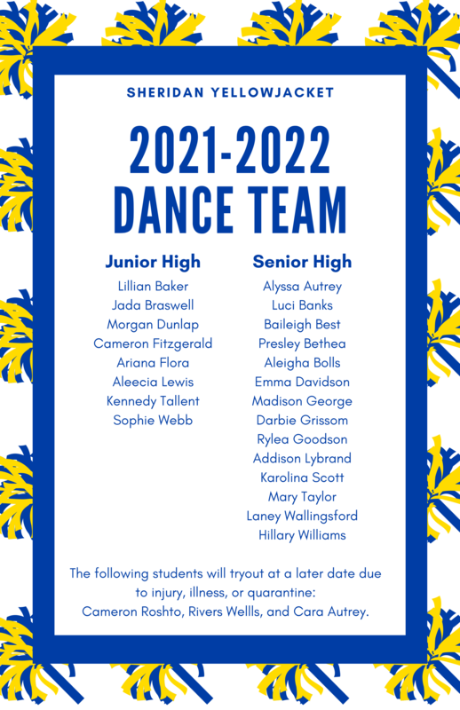 SSD Announces the 2021-2022 Dance Team