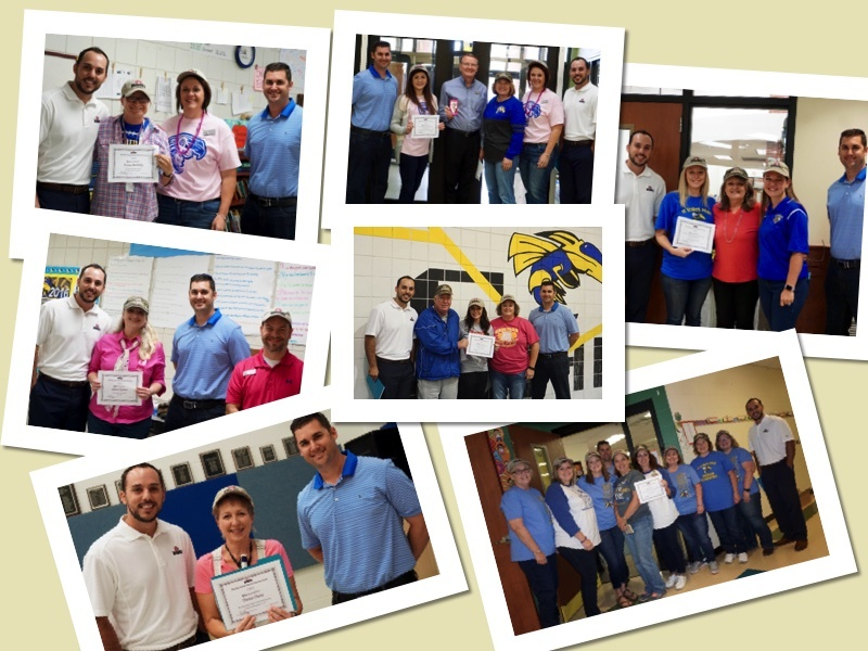 Collage of Teachers Receiving Grants