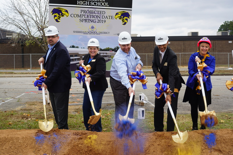 Sheridan High School Breaks Ground on Two-Story Addition