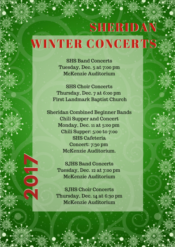 Flyer that shows winter concerts. See text in article