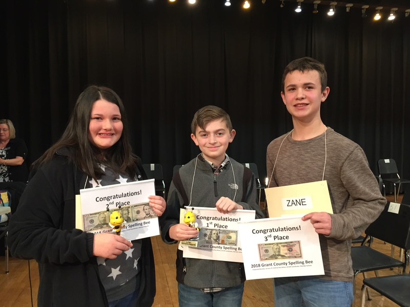 Congratulations to Grant County Spelling Bee Winners Avery Williams and Caroline Mitchell!