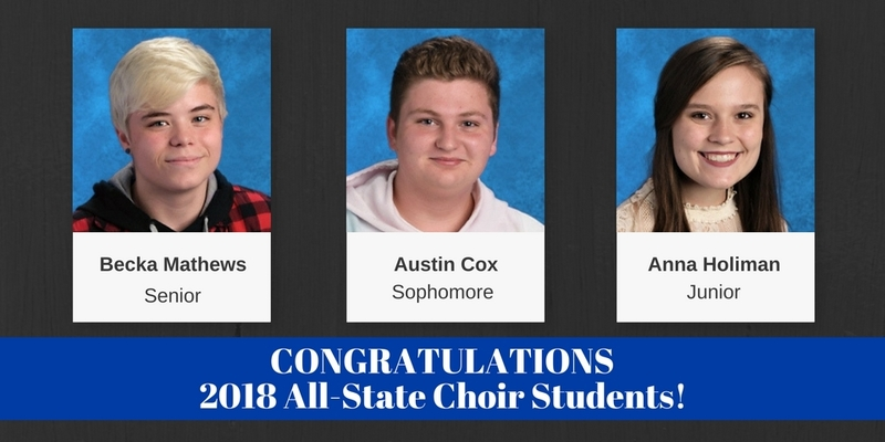 Congratulations to the SHS All-State Band and Choir Students!