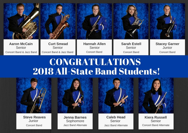All-Sate Band Students