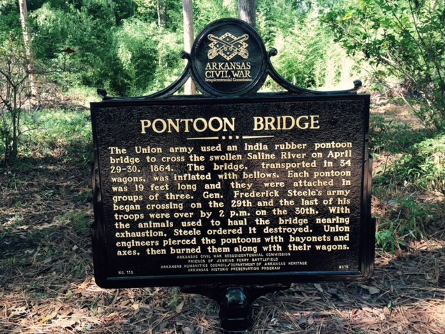 Historical Marker for Pontoon Bridge