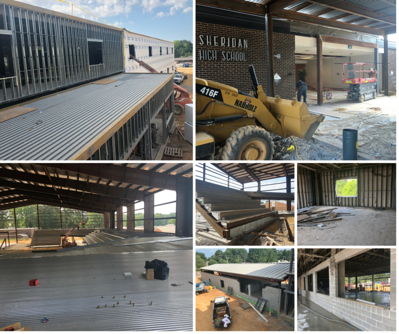 High School Addition Construction Update As of July 13