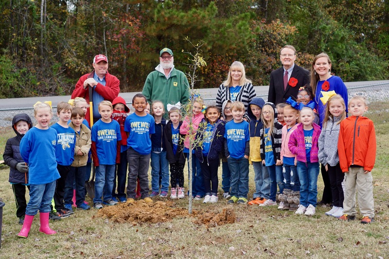 World War I Memorial Tree Planted at Sheridan Elementary